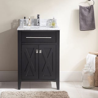 Wimbledon Collection 24 Inch Single Vanity with Marble Countertop (3 options available)