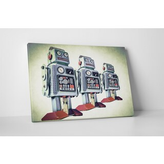 Children's 'Retro Robot' Gallery-Wrapped Canvas Wall Art