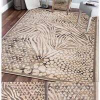 Admire Home Living Gallina Animal Print Area rug - 3'3 x 4'11