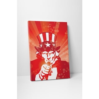 Vintage Metal Signs 'Uncle Sam' Gallery Wrapped Canvas Wall Art - Yellow