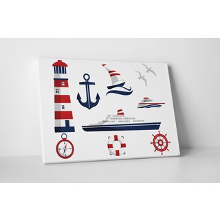 'Nautical Decor' Gallery Wrapped Canvas Wall Art