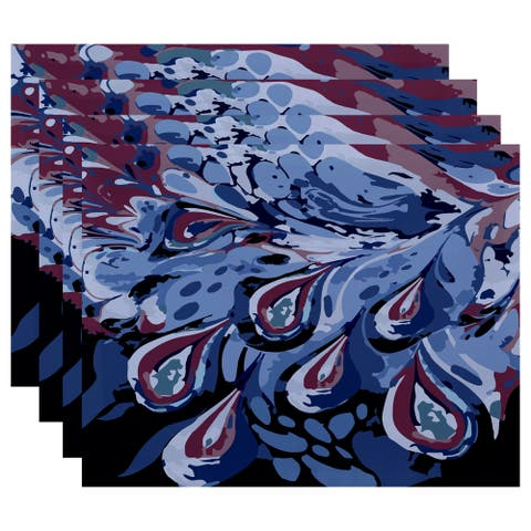 18 x 14-inch Boho Splash Geometric Print Placemat (Set of 4)