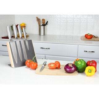 Haus Designer Black Dot Stainless Steel 5-piece Knife Set