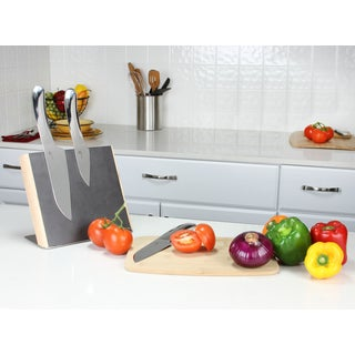 Haus Designer Stainless Steel Curved 3-piece Knife Set