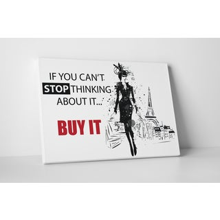 Buy It' Fashion Gallery-wrapped Canvas Wall Art