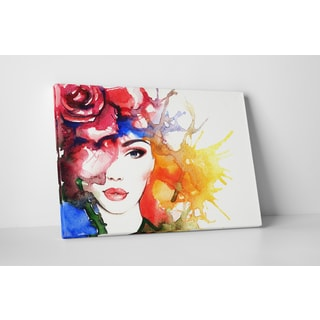 Rose in Hair' Fashion Gallery-wrapped Canvas Wall Art