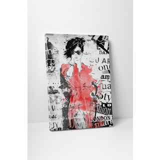 Fashion 'Text Collage' Gallery Wrapped Canvas Wall Art