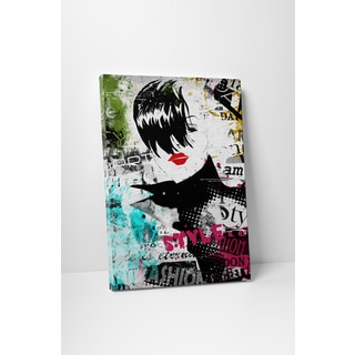 Fashion 'High Collar III' Gallery Wrapped Canvas Wall Art