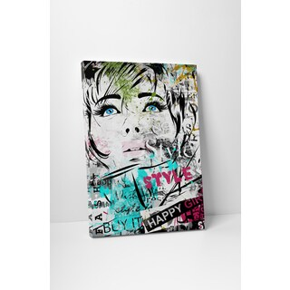 Fashion 'High Collar II' Gallery Wrapped Canvas Wall Art
