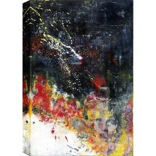 Hobbitholeco. Christina Lovisa, Awareness, Abstract, Gel Brush Finish Canvas Wall Art Decor, Gallery Wrapped 24X36