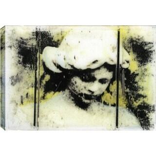 Hobbitholeco., Christina Lovisa, Lady with Hat, Abstract, Hand Applied Gel Brush Finish Canvas