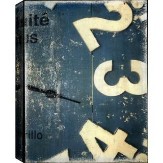 Hobbitholeco. Christina Lovisa, Clock, Abstract, Gel Brush Finish Canvas Wall Art Decor, Gallery Wrapped 18X24,