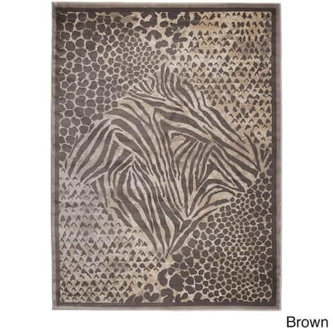 Admire Home Living Gallina Modern Contemporary Animal Print Pattern Area Rug