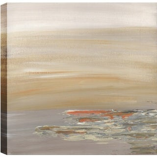 Hobbitholeco. Sanjay Patel, Sunny Reflections Abstract, Gel Brush Finish Canvas Wall Art Decor, Gallery Wrapped 24X24