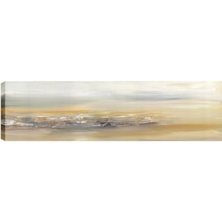Hobbitholeco. Sanjay Patel, Distant Abstract, Gel Brush Finish Canvas Wall Art Decor, Gallery Wrapped 20X60