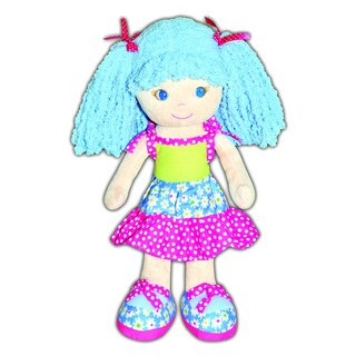 GirlznDollz Sophia Blue Fabric Floral Patchwork Baby Doll