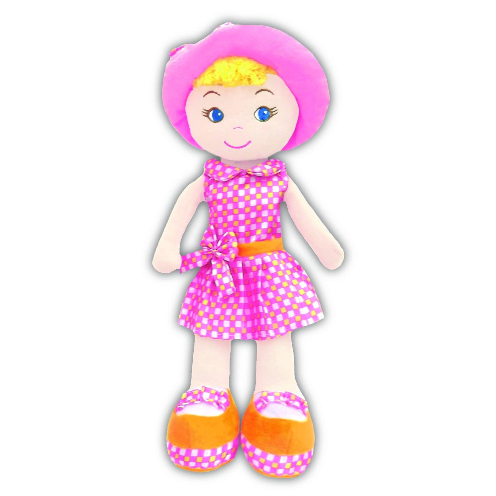 "GirlznDollz Cameron Baby Doll (14"" L), Orange"