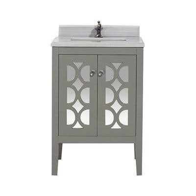 Mediterraneo Collection 24 Inch Single Vanity with Marble Countertop