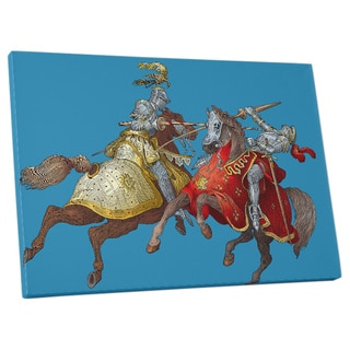 'Jousting Knights' Gallery Wrapped Canvas Wall Art