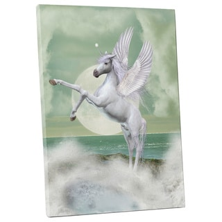 'Winged Unicorn' Gallery-wrapped Canvas Wall Art