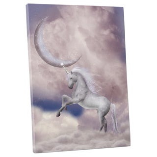 Children's 'Mystic Unicorn' Gallery-wrapped Canvas Wall Art
