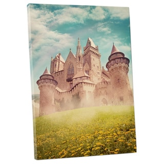 'Castle in the Meadows' Gallery Wrapped Canvas Wall Art