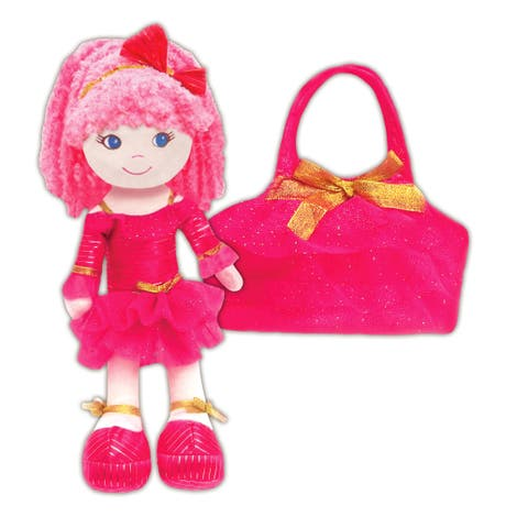 Leila Pink Dancer Doll with Toddler purse