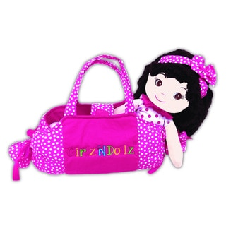 GirlzNDollz Jessica Fabric Pretty in Pink Doll with Bag