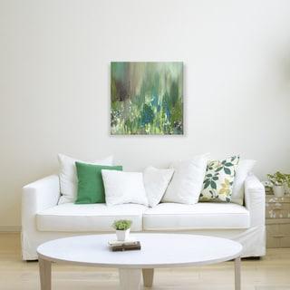 Hobbitholeco., Sanjay Patel, Sunny Pond I Abstract, Hand Applied Gel Brush Finish Canvas