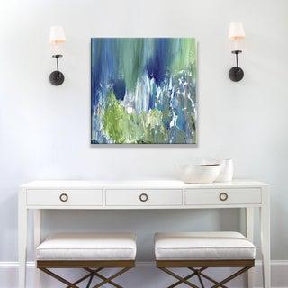 Hobbitholeco., Sanjay Patel, Bright Pond I Abstract, Hand Applied Gel Brush Finish Canvas
