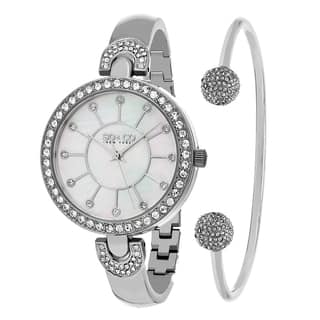 SO&CO New York Women's Madison Quartz Bracelet with Bangle Gift Mothers Day Gift Watch Set|https://ak1.ostkcdn.com/images/products/11915860/P18807274.jpg?impolicy=medium