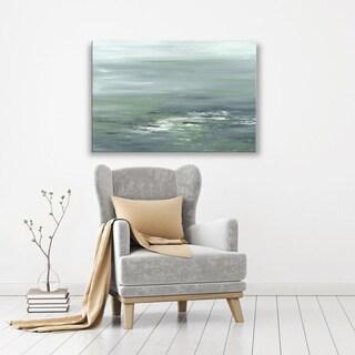 Hobbitholeco., Sanjay Patel, Greenery I Abstract, Hand Applied Gel Brush Finish Canvas