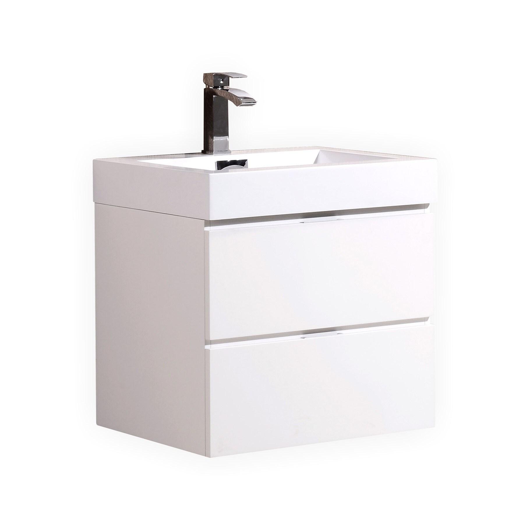 Kube Bath KubeBath Bliss 24-inch Single-sink Bathroom Van...