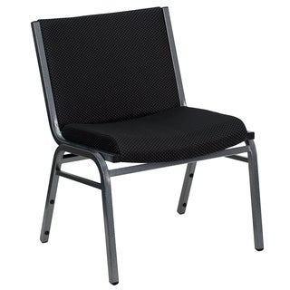 Venezia Extra Black Fabric Wide Big and Tall Office Stack Chairs