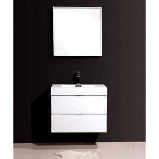 KubeBath Bliss 30-inch Single Sink Bathroom Vanity (High Gloss White - N/A)