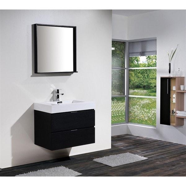 Shop kubebath bliss 30 inch single sink bathroom vanity - 30 inch single sink bathroom vanity ...