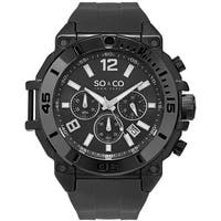 44cf5df35365 So Co New York Men s Yacht Club Quartz Chronograph Black Rubber Strap Watch