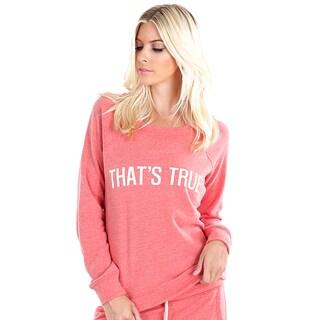 Nikibiki Women's Activewear 'That's True' Fleece Sweatshirt