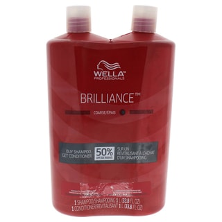 Wella Brilliance 33.8-ounce Shampoo & Conditioner for Coarse Colored Hair