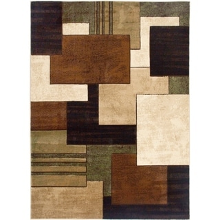 """Home Dynamix Tribeca Collection Contemporary Brown Rug 3 Piece Set  ( 5'2""""X7'2"""", 1'9""""X7'2"""", 18.9"""" X 31.5)"""