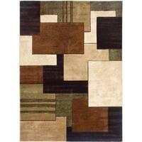 Home Dynamix Tribeca Collection Contemporary Brown Rug 3 Piece Set - 5'2 x 7'2