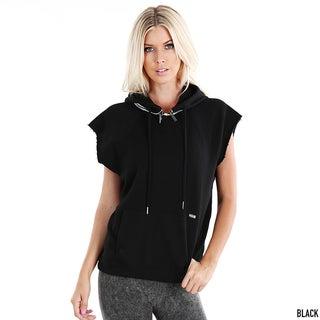 Nikibiki Activewear Women's Raw Edge Pullover Hoodie
