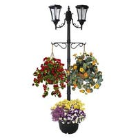 Martens Solar Lamp Post and Planter