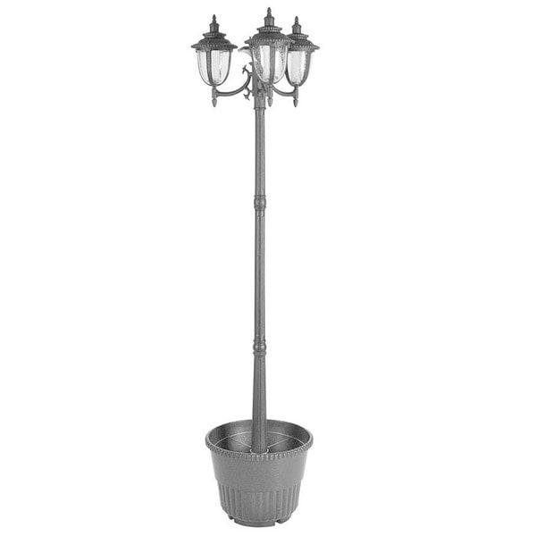 Shop Hannah Three Head Solar Lamp Post And Planter Free