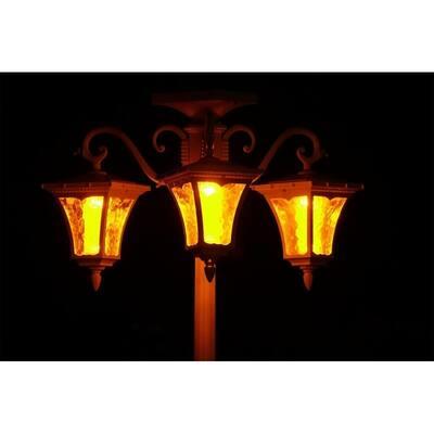 Vittoria Three Head Solar Lamp Post and Planter