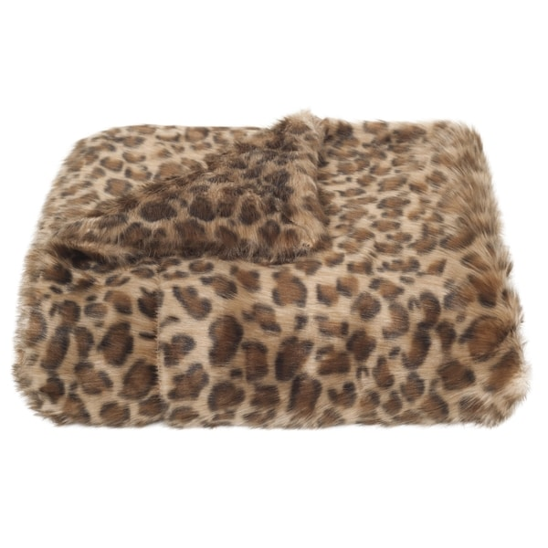 Safavieh Leopard Print Leopard Throw (4' 2 x 5')