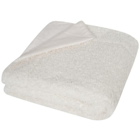 Safavieh Marshmallow Cream 50 x 60-inch Throw Blanket