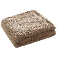 Safavieh Poodle Latte 50 x 60-inch Throw Blanket