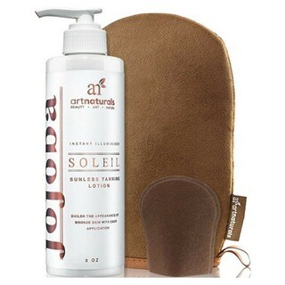artnaturals Organic 8-ounce Sunless Tanning Lotion Set With Mitt