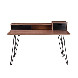 Aurelle Home Walnut Modern Writing Desk